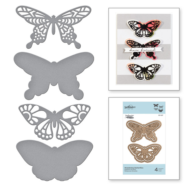 Shapeabilities Wandering Butterflies Etched Dies Good Vibes Only Collection by Stephanie Low