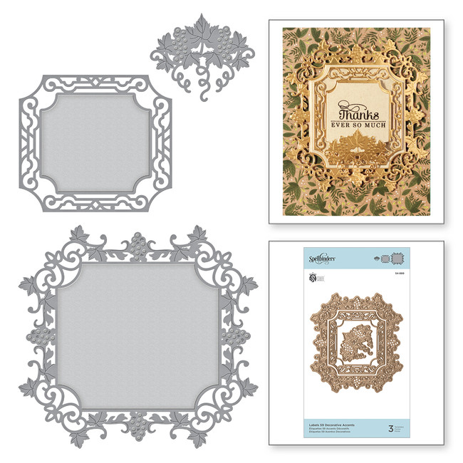 Shapeabilities Labels 59 Decorative Accents Etched Dies Wine Country by Stacey Caron