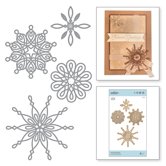 Shapeabilities Yuletide Snowflakes Etched Dies A Charming Christmas Collection by Becca Feeken