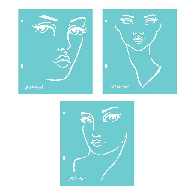 Good Face Stencils Artomology Collection by Jane Davenport