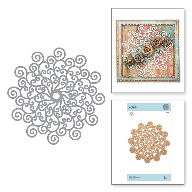 Shapeabilities Swirly Doily Etched Dies Exquisite Splendor by Marisa Job