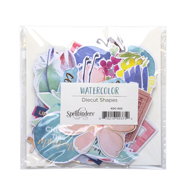 Watercolor Diecut Shapes Set - Card Kit of the Month Extras