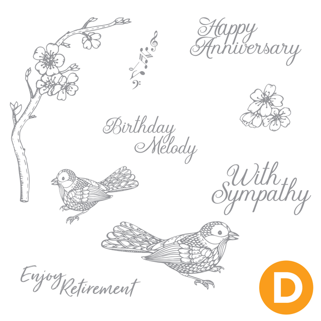 Bird Melody Stamp Set