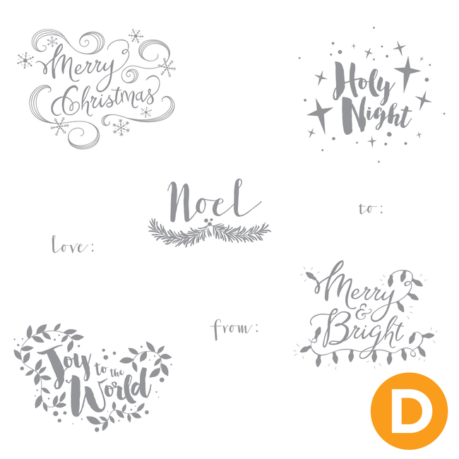 Merry Words Stamp Set