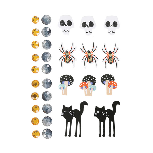 Spooky Eve Stickers & Gems Embellishment Pack