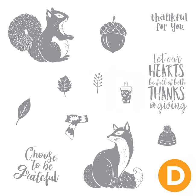 Thankful Friends Stamp Set