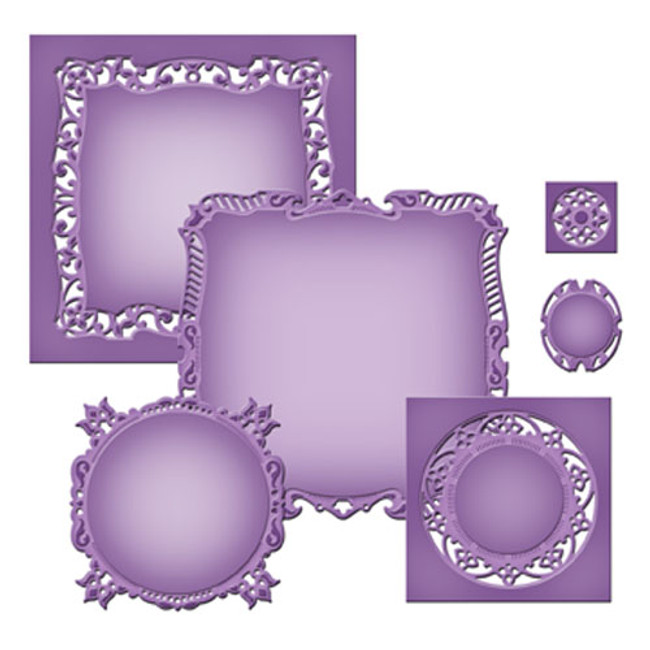 Nestabilities Majestic Squares Etched Dies