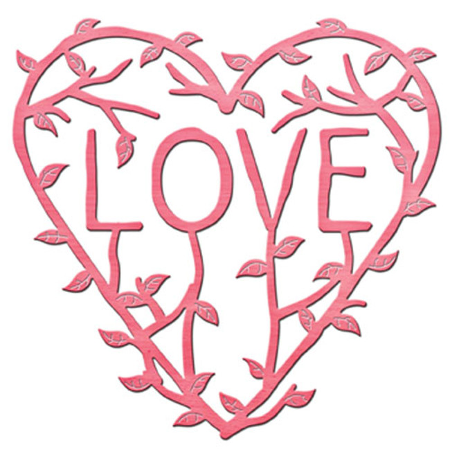Shapeabilities Inspire Love Vine Etched Dies