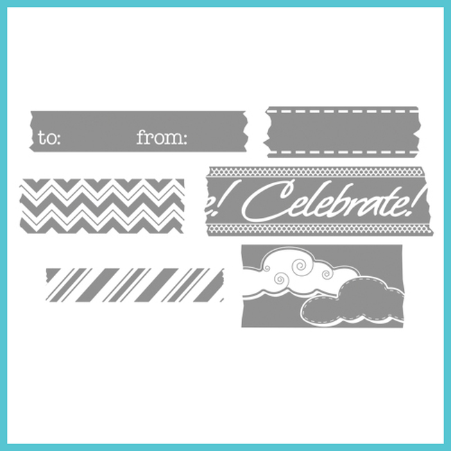 Celebrations Tape It Stamps