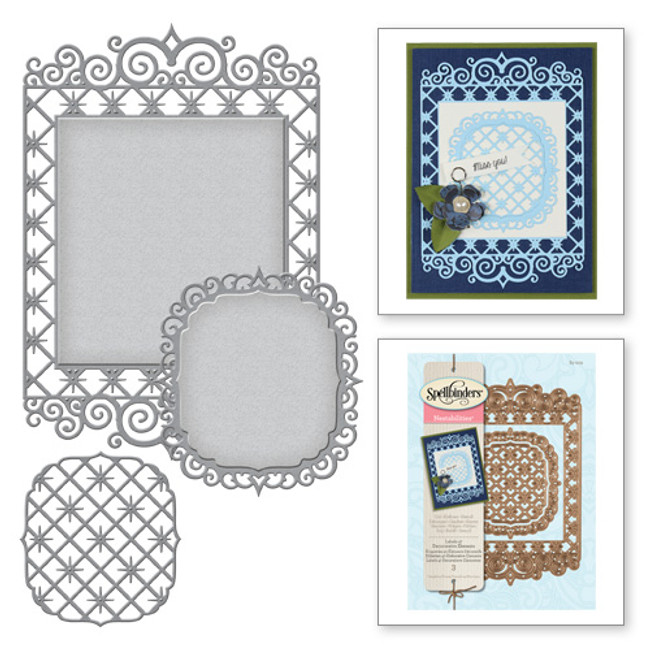 Nestabilities Labels 47 Decorative Elements Etched Dies