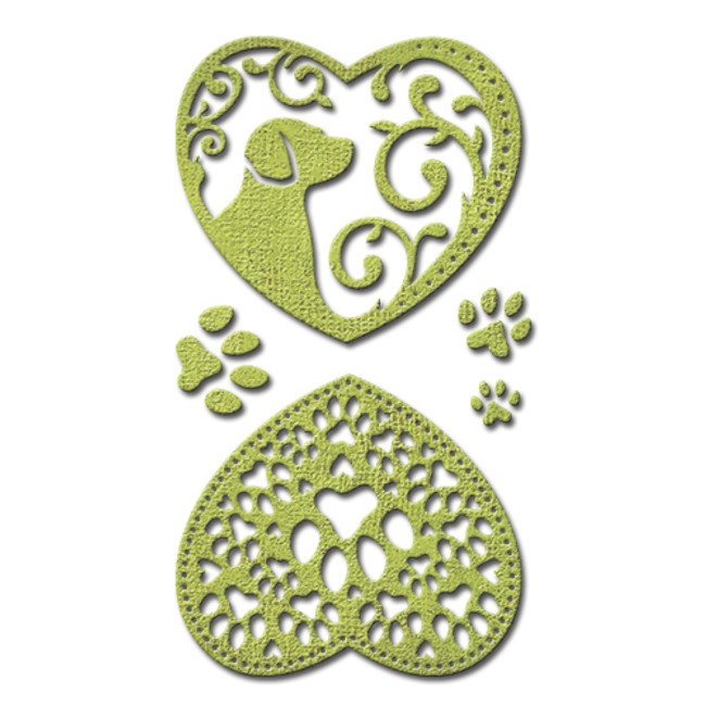 Shapeabilities Heart & Home Pawing Around (Dog) Etched Dies