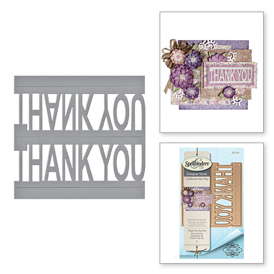 Shapeabilities Thank You Pop-Up Celebrate the Day by Marisa Job Etched Dies