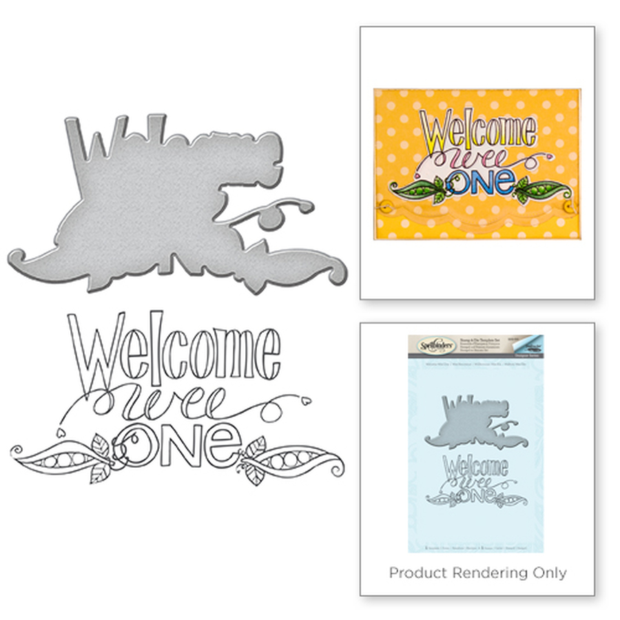 Welcome Wee One Stamp and Die Set from the Happy Grams #2 Collection by Tammy Tutterow