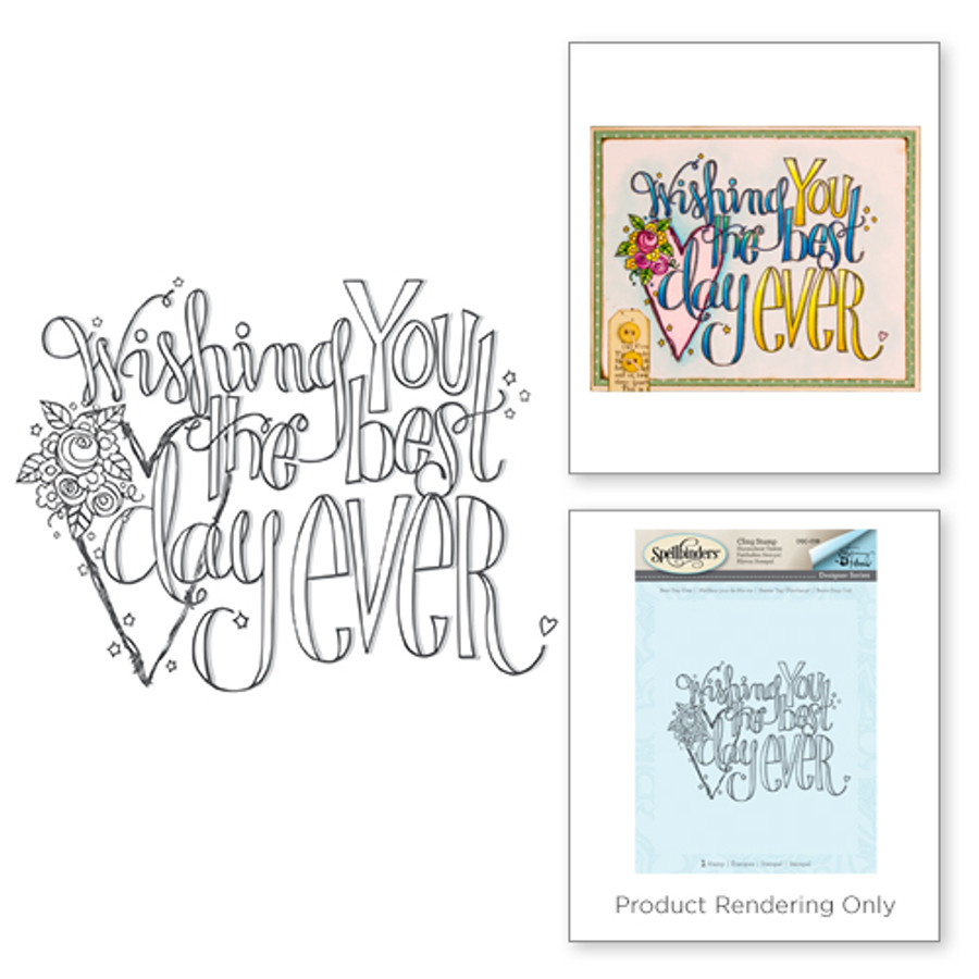 Wishing You the Best Day 3D Shading Stamp from the Happy Grams #2 Collection by Tammy Tutterow