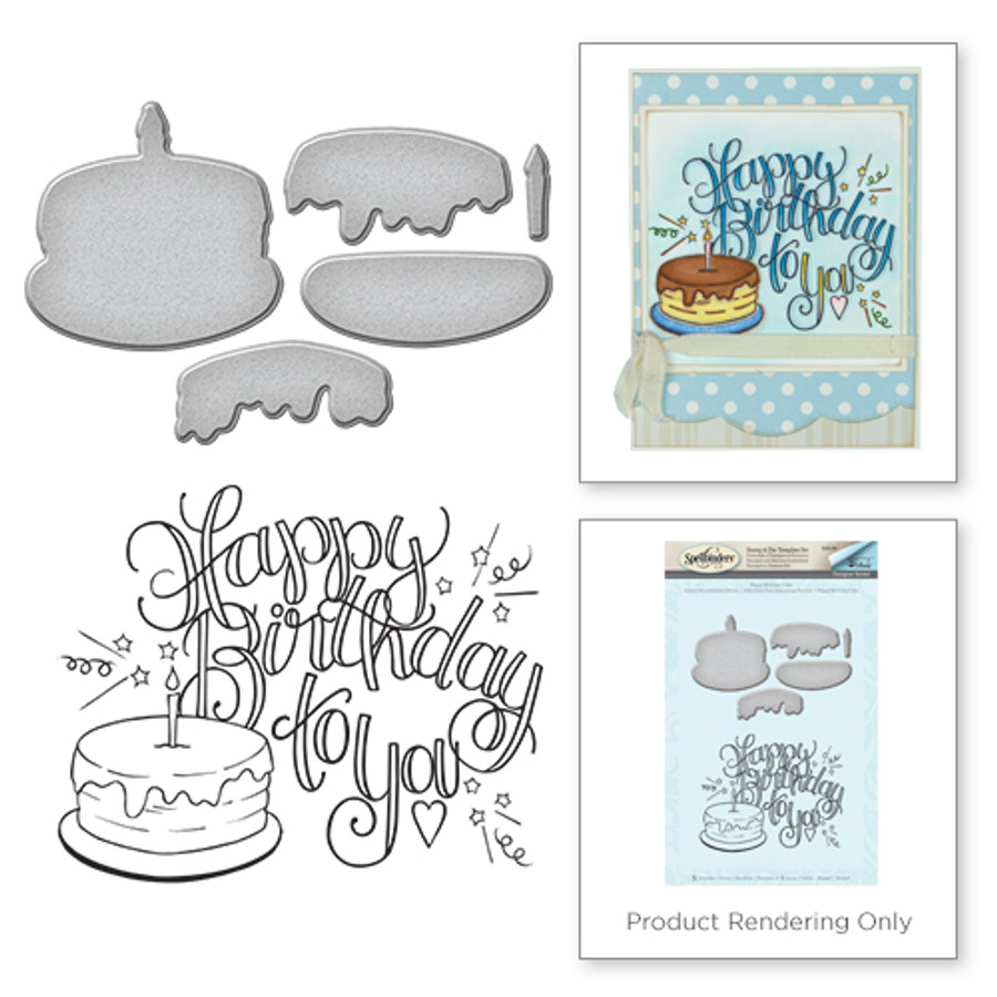 Happy Birthday Cake Stamp and Die Set from the Happy Grams #3 by Tammy Tutterow