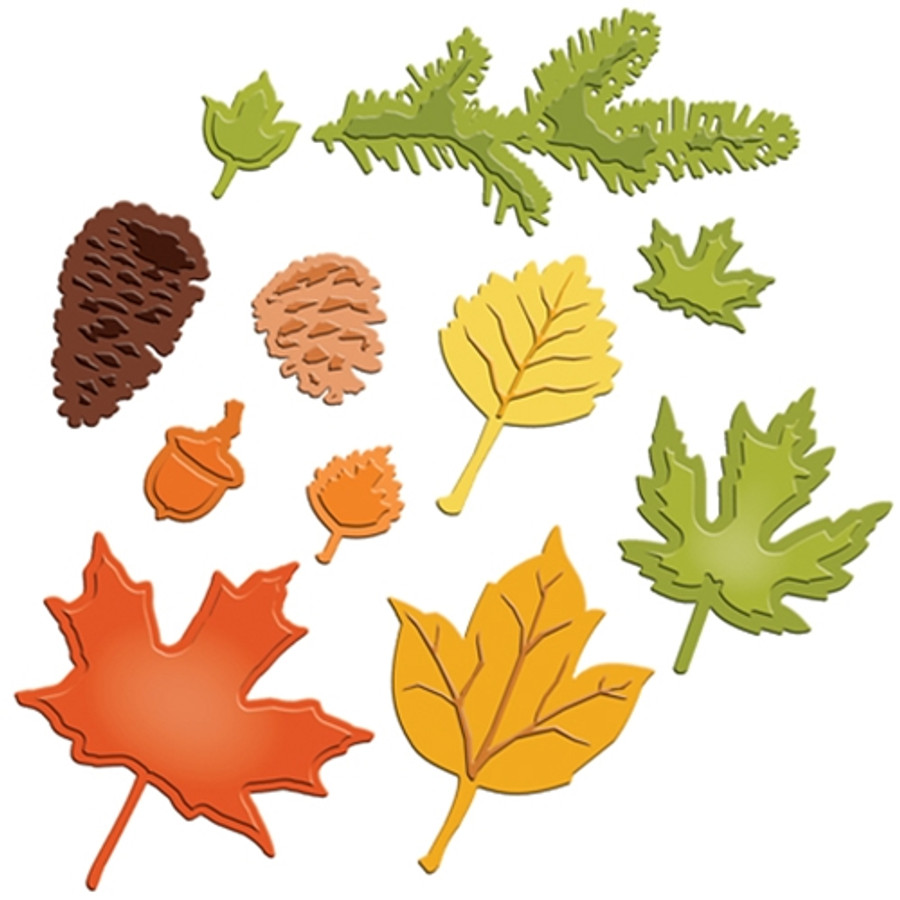 Shapeabilities Fall Foliage Etched Dies