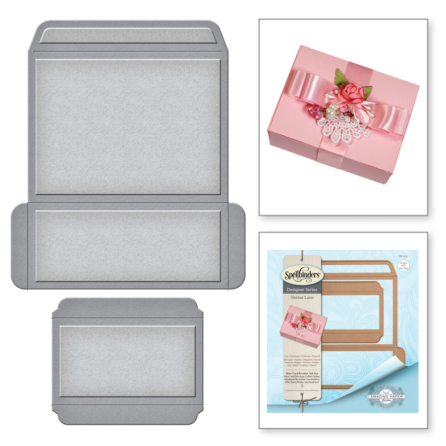 Shapeabilities Mini Card/Booklet Gift Box Etched Dies Venise Lace by ...
