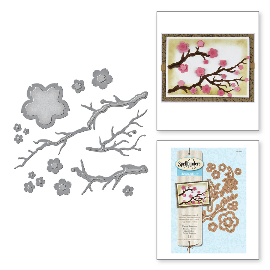 Shapeabilities Cherry Blossoms Etched Dies