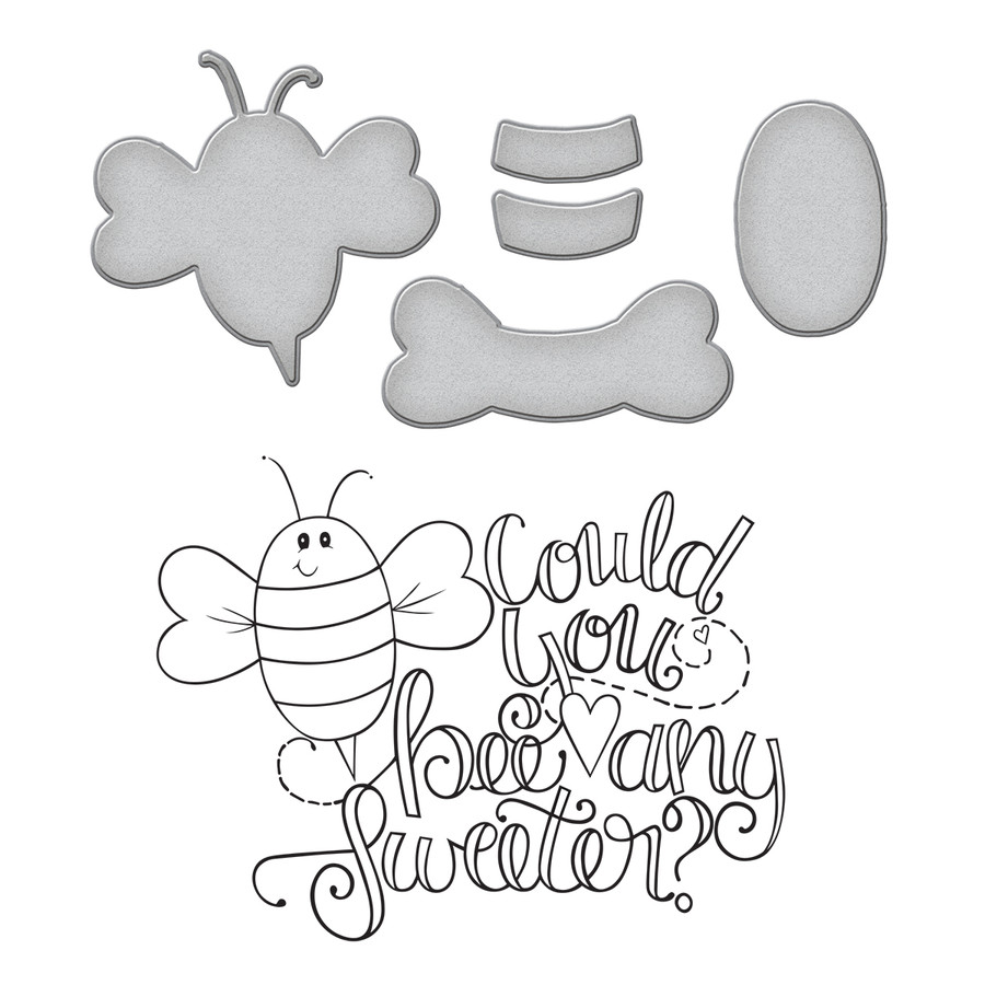 Spellbinders BEE ANY SWEETER STAMP & DIE SET