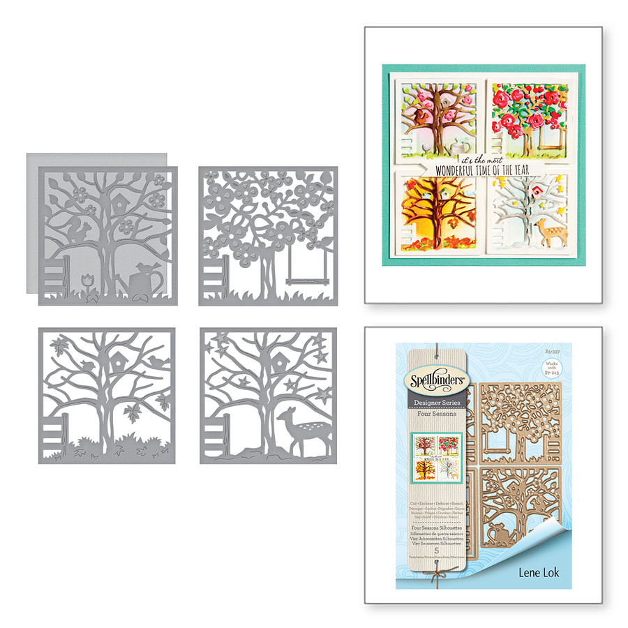 Shapeabilities Four Seasons Silhouettes Etched Dies Four Seasons by Lene Lok