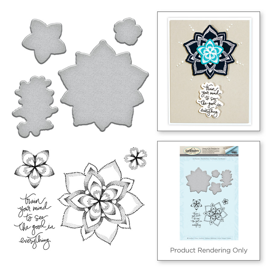 Dot Mandala Cool Vibes by Stephanie Low Stamp and Die Set