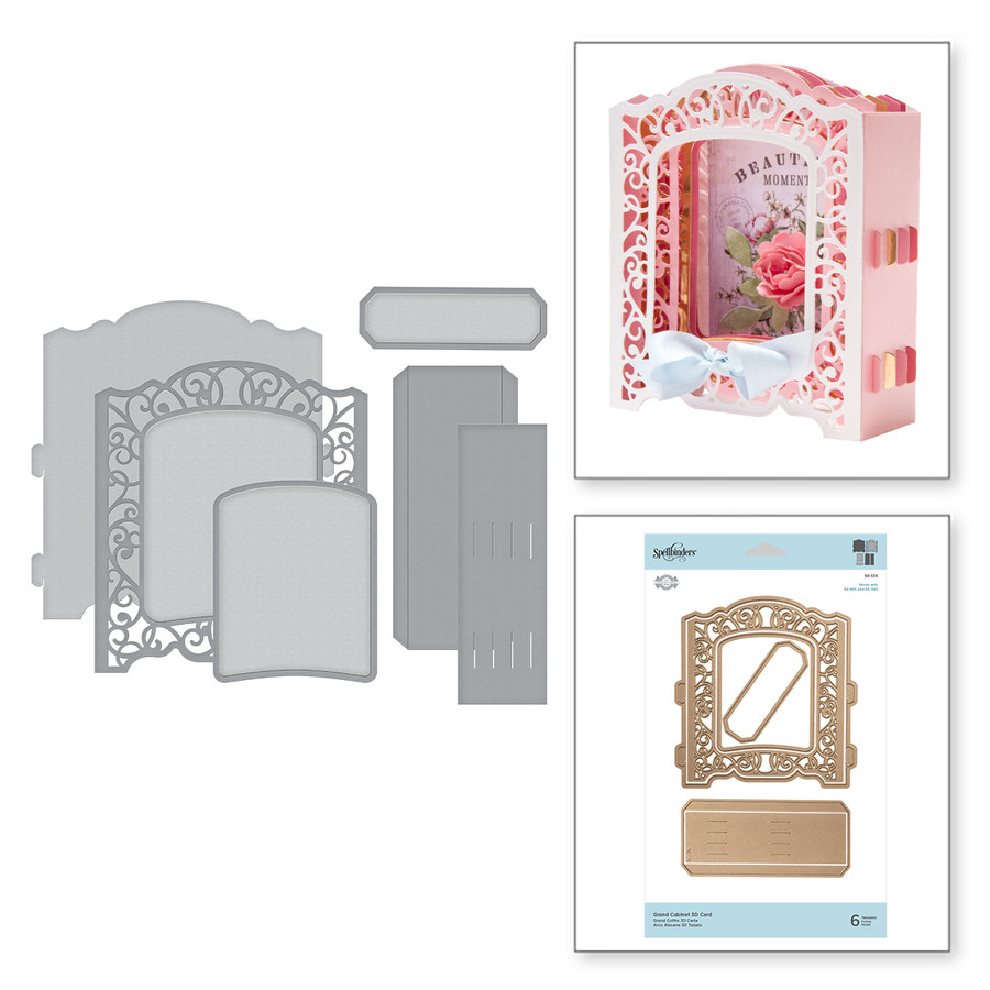 Shapeabilities Grand Cabinet 3D Card Etched Dies Elegant 3D Vignettes by Becca Feeken