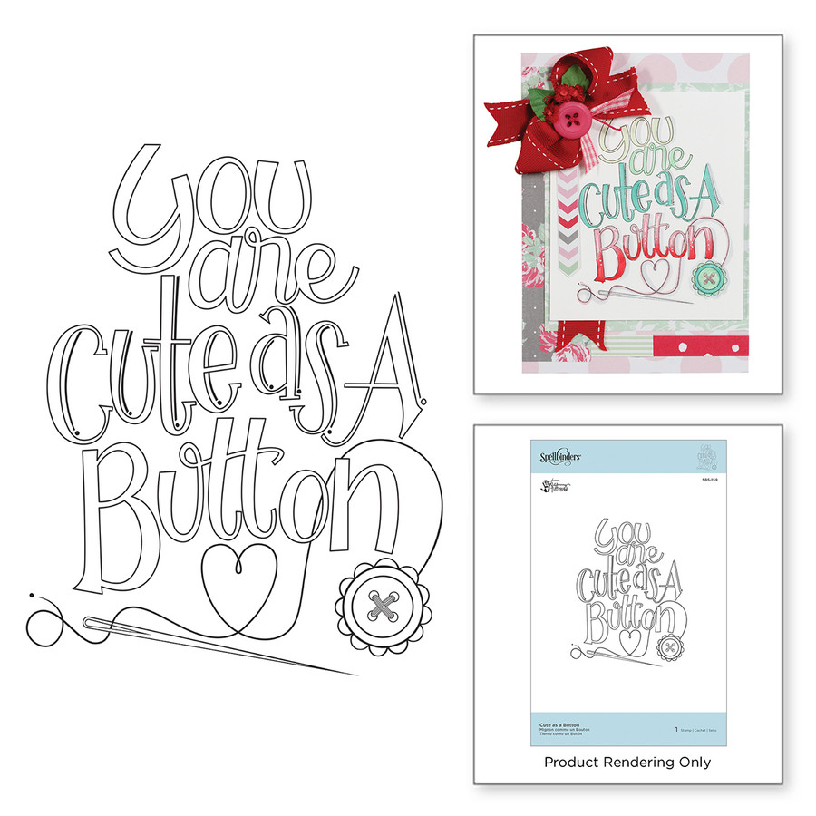 Cute as a Button Stamps Sew Sweet Collection by Tammy Tutterow