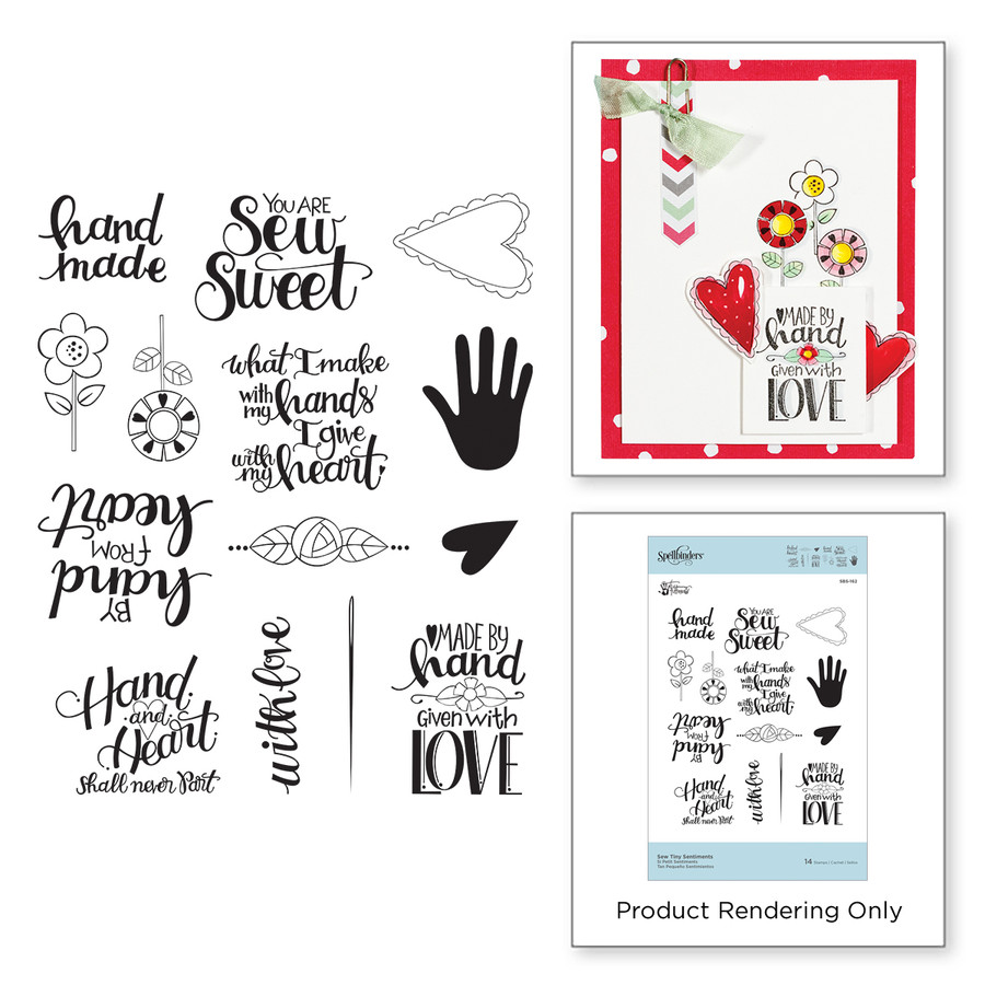 Sew Tiny Sentiments Stamps Sew Sweet Collection by Tammy Tutterow
