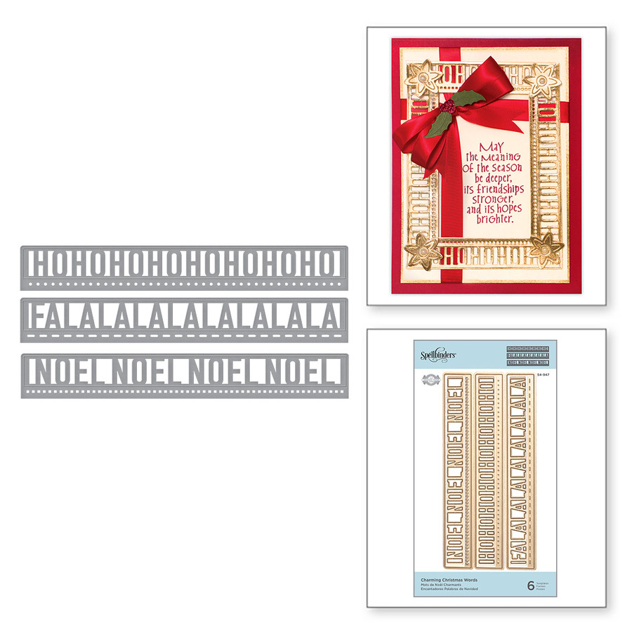 Shapeabilities Charming Christmas Words Etched Dies A Charming Christmas Collection by Becca Feeken