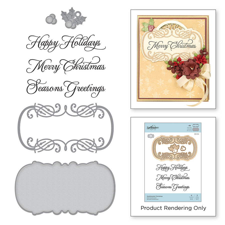 Sentimental christmas stamp and die set a charming christmas sentimental christmas stamp and die set a charming christmas collection by becca feeken m4hsunfo