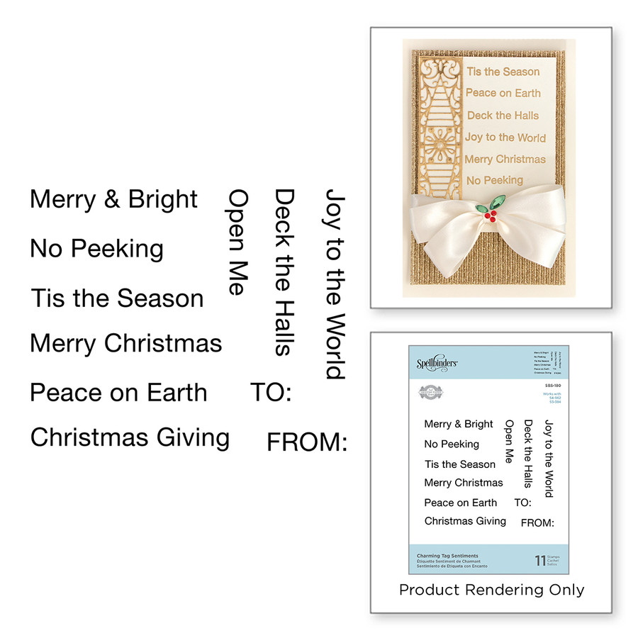 Charming Tag Sentiments Stamps A Charming Christmas Collection by Becca Feeken