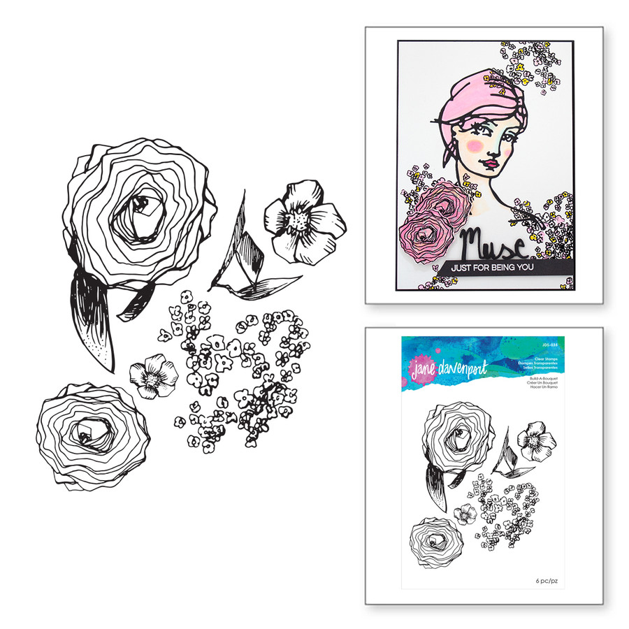 Build-A-Bouquet Clear Stamps Artomology Collection by Jane Davenport