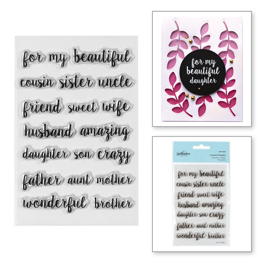 Family Sentiments Clear Stamps