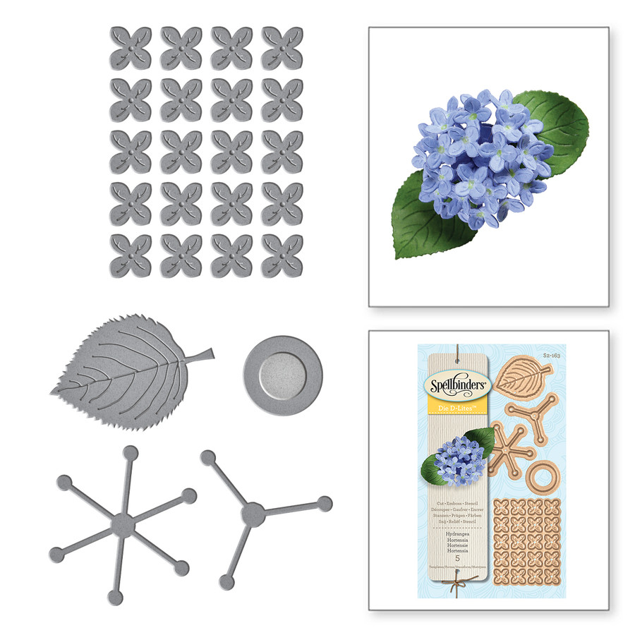 Shapeabilities Create A Hydrangea Etched Dies