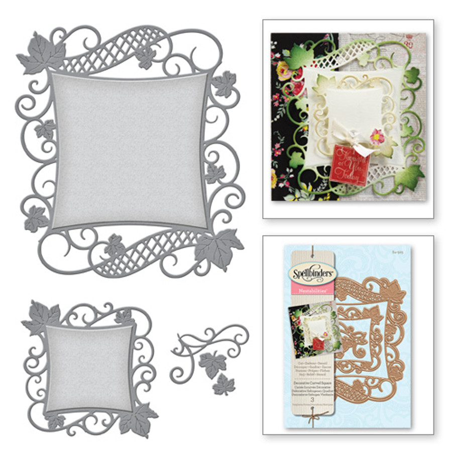 Nestabilities Decorative Accents Victorian Garden Decorative Curved Square Etched Dies