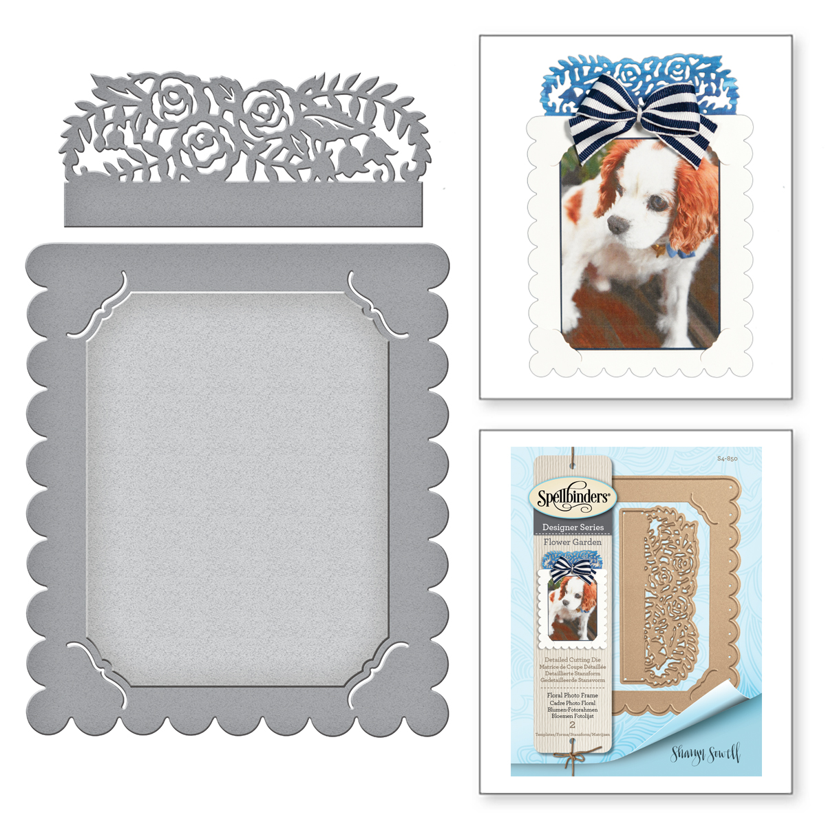 Shapeabilities Floral Photo Frame Etched Dies Flower Garden by ...