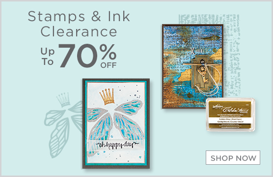 70% Off Stamps & Ink