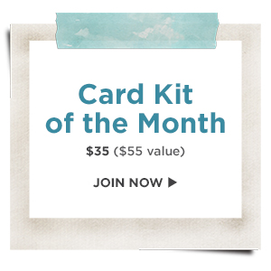 Spellbinders Clubs - Card of the Month