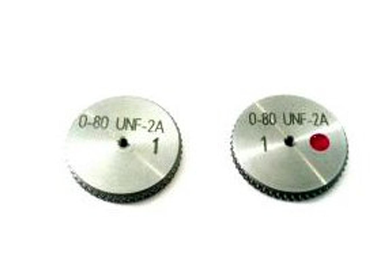 0-80 UNF-2A Thread Ring Gage, HSS Set Go & No-Go