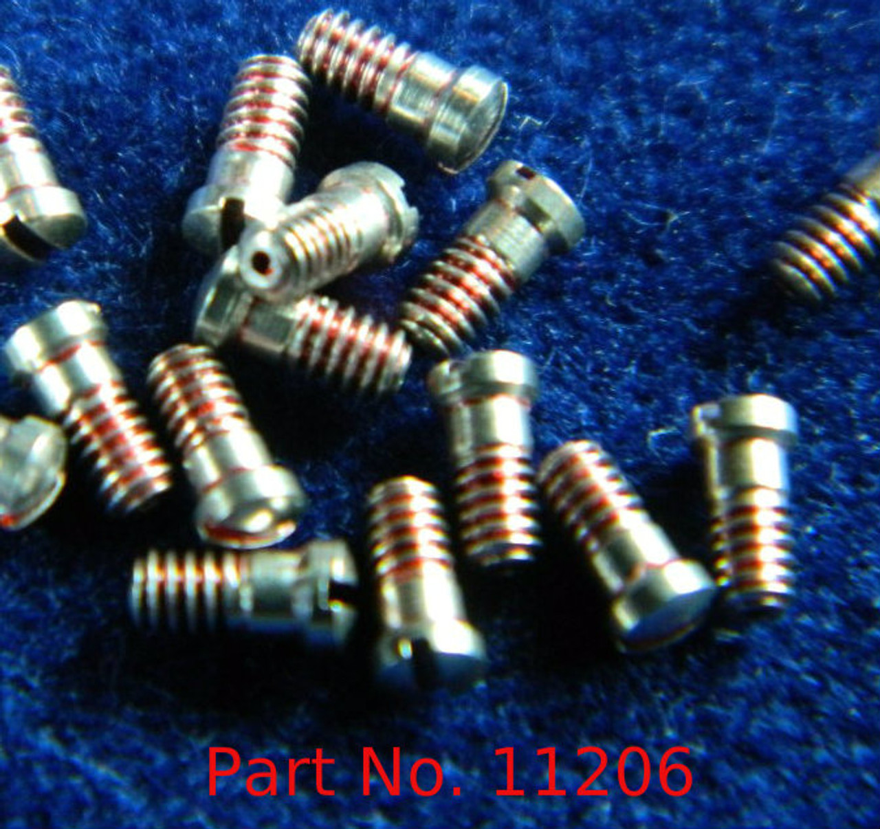 """Machine Screw special, small head, thread M1.4 pitch .30mm (Thread also called  1.40 UNM) head diameter 2.0mm, Length (shank) 2.8mm / 0.110"""" max OAL 3.0mm material Stainless steel, price for 100 pieces, finish color silver  Screw made on precision screw machines. Available with and without thread coating."""