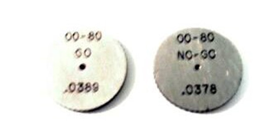 00-80 NS-2 Thread Ring Gage, HSS Set Go & No-Go