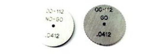 Thread Ring Gage Set 00-112 Class NS-2; One each Go & No-Go members Precision Thread Gage made of High Speed Steel then hardened. Picture is representative of part,  We have 3 sets only.  Brand is; DC Swiss  Gage diameter is 16.4mm