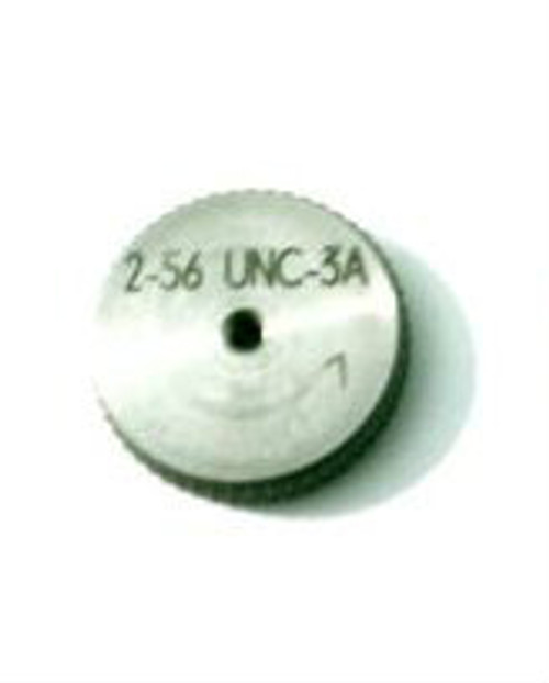 "Thread Ring Gage 2-56 class UNC-3A; ""Go"" member Precision Thread Gage made of High Speed Steel then hardened. Picture is representative of part,  Brand ESO made for us in Switzerland."