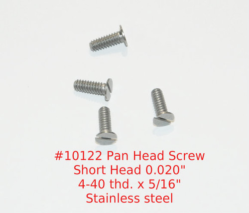 "4-40 Pan Head (Short 0.020"") Slotted Machine Screw, Length 5/16""full thread stainless steel #303 Price is for 100 pieces.  All parts are certified and traceable."