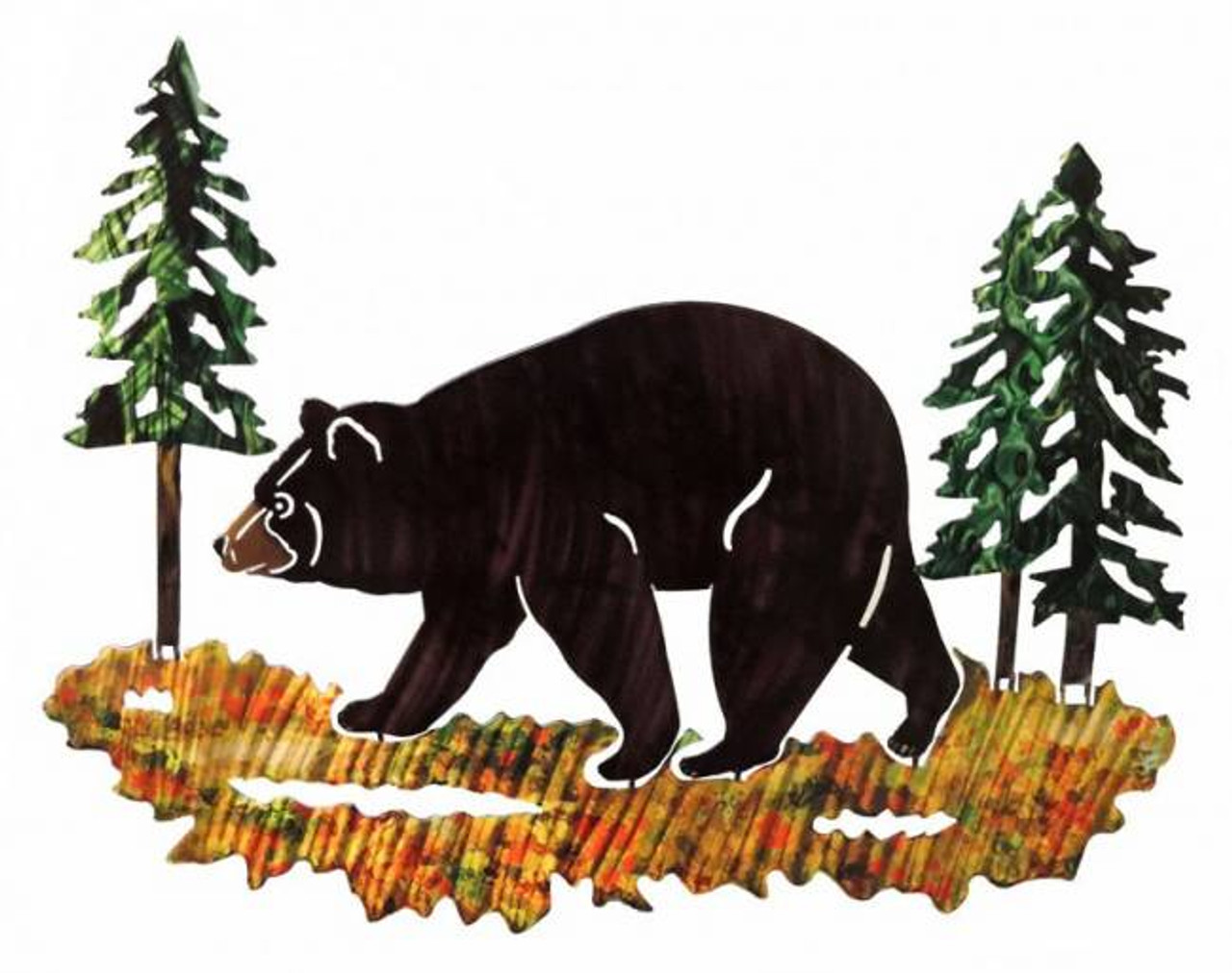 Black Bear (Medium) 3D Steel Reflective Wall Art