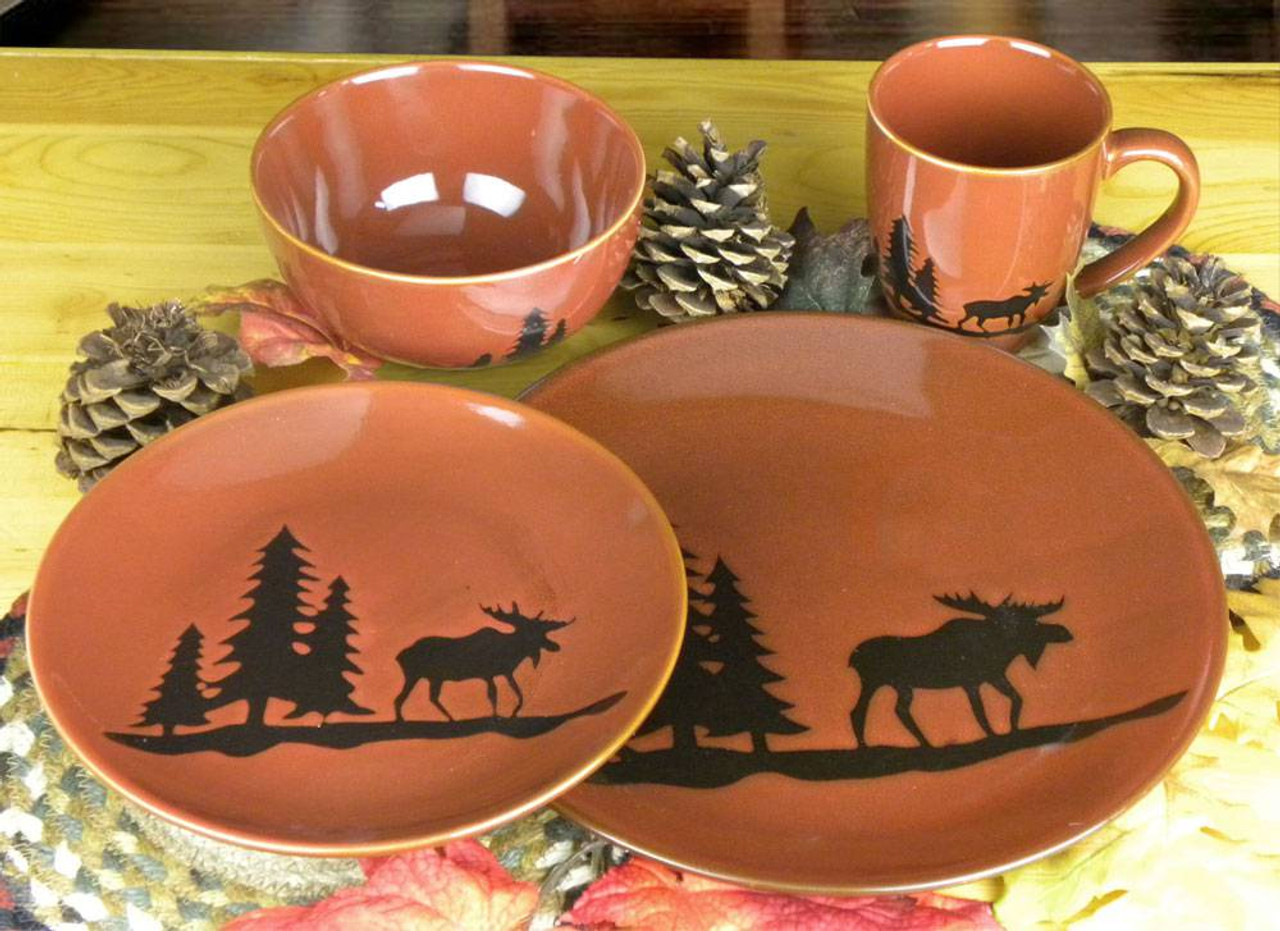 Moose in the Pines Place Setting & Woodland Moose Place Setting