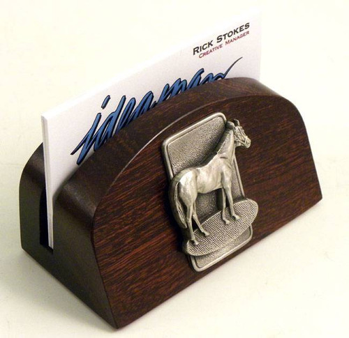 Horse business card holder horse business card holder horse business card holder angled side view colourmoves