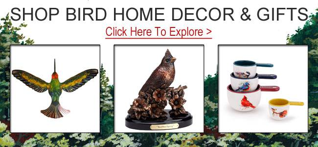 Shop bird gifts and decor.