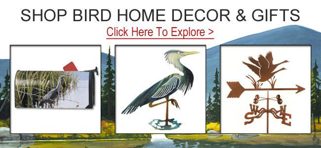 Shop heron gifts and decor.