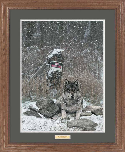 Quot Watchdog Quot Wolf Framed Wildlife Art Print